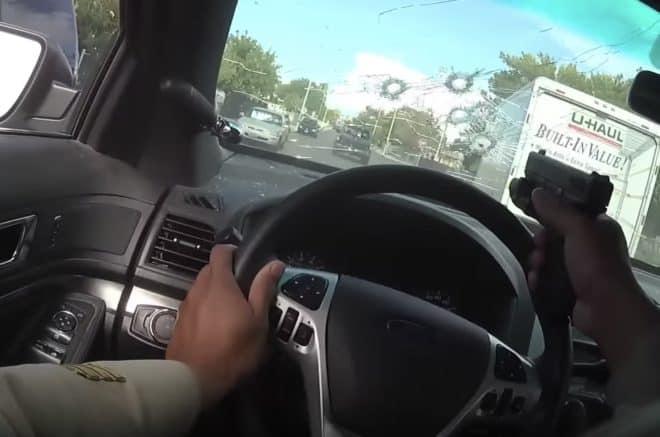 Image tirée de la vidéo diffusée par la police de Las Vegas.