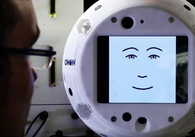 Cimon, robot qui a rejoint l'ISS en juillet 2018