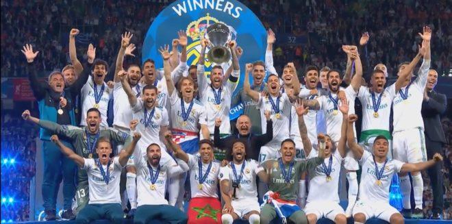 Le Real Madrid vainqueur de la Ligue des Champions 2018