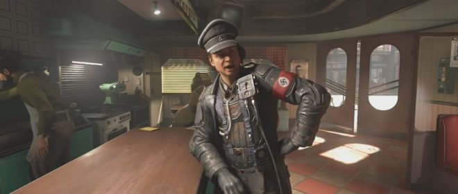 """Un officier nazi dans """"Wolfenstein II: The New Colossus"""" (2017)"""