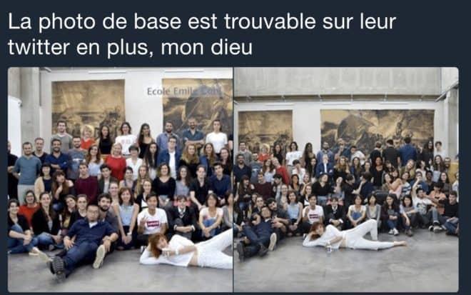 Comparaison des deux photos.