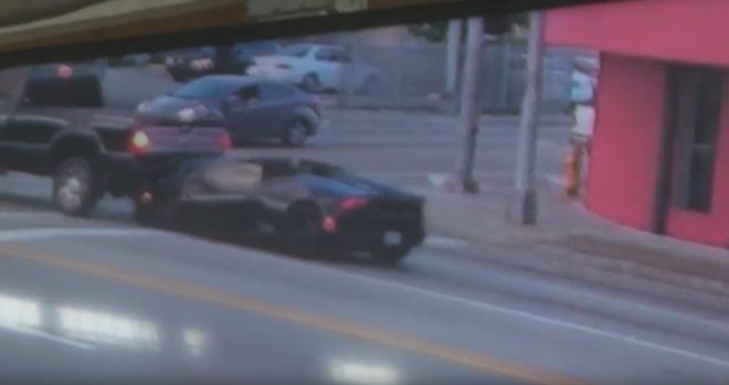 Accident de voiture entre une Lamborghini et un pick-up le 13 octobre 2018 à Miami (États-Unis)
