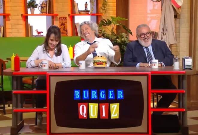 Chantal Lauby, Alain Chabat et Dominique Farrugia réunis pour le Burger Quiz du 10 octobre 2018