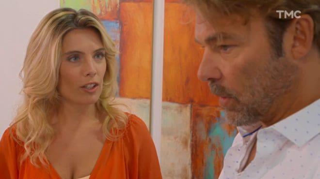 """Carine Bastion et Nicolas (Les Mystères de l'Amour saison 18, épisode 24 """"Pensées diverses"""")"""