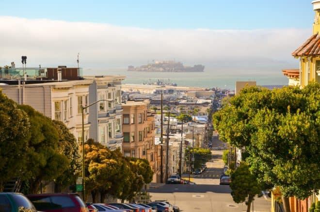 Illustration. Une vue de San Francisco.