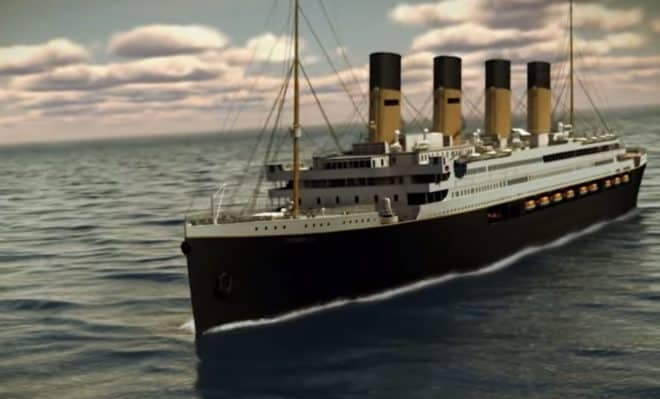 La réplique du Titanic en trois dimensions.