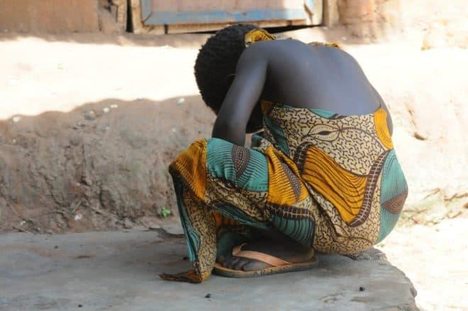 Une fillette africaine. Image d'illustration.