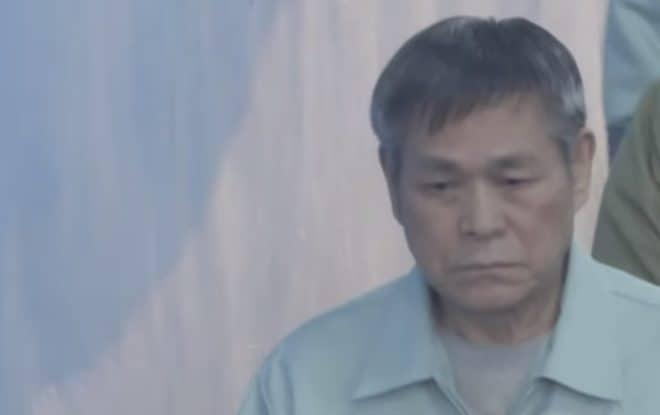 Le gourou Lee Jaerock à l'issue de son procès le 22 novembre 2018.