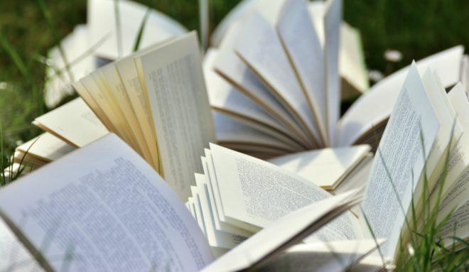 Illustration. Des livres ouverts.