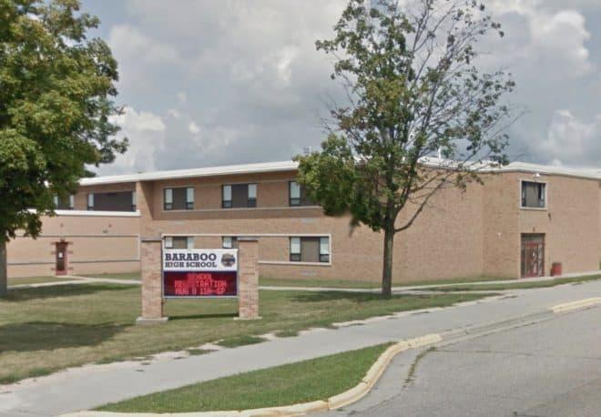 Le lycée Baraboo, dans le Wisconsin.