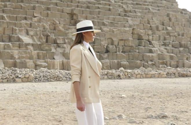 Melania Trump en Egypte en octobre 2018.