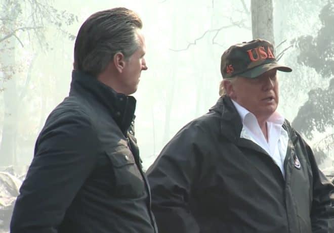 Donald Trump à Paradise, novembre 2018.