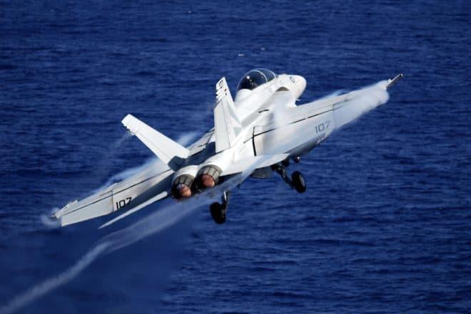 Photo d'illustration. Un chasseur F-18.