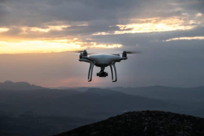 Illustration. Un drone.
