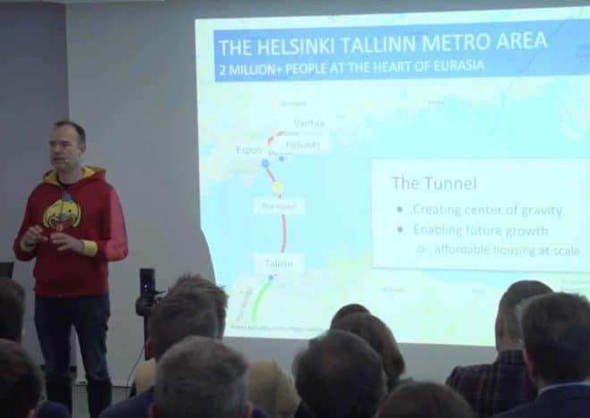 Peter Vesterbacka lors de la présentation de son projet en janvier 2018.
