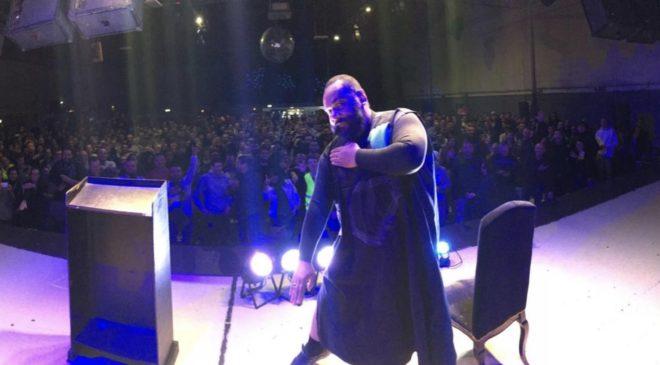 Dieudonné en spectacle à Montpellier le 28 février 2019.