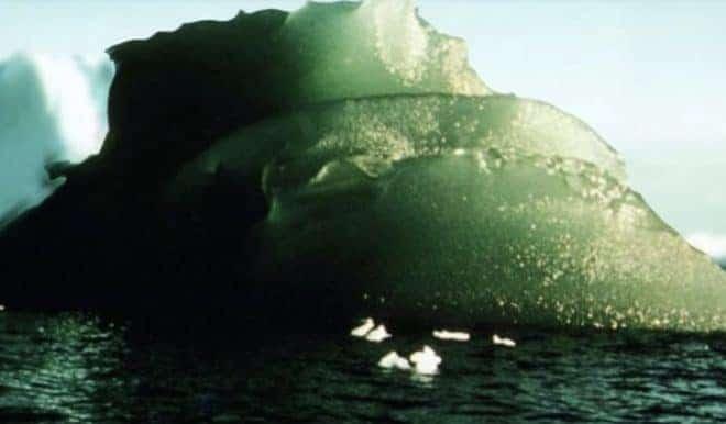 Illustration. Un iceberg vert.