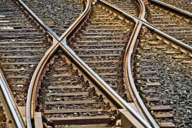 Illustration. Des rails de chemin de fer.