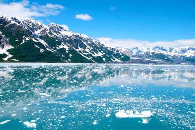 Illustration. Un paysage d'Alaska.