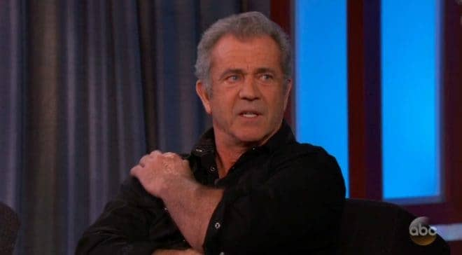 L'acteur Mel Gibson en interview (2018).