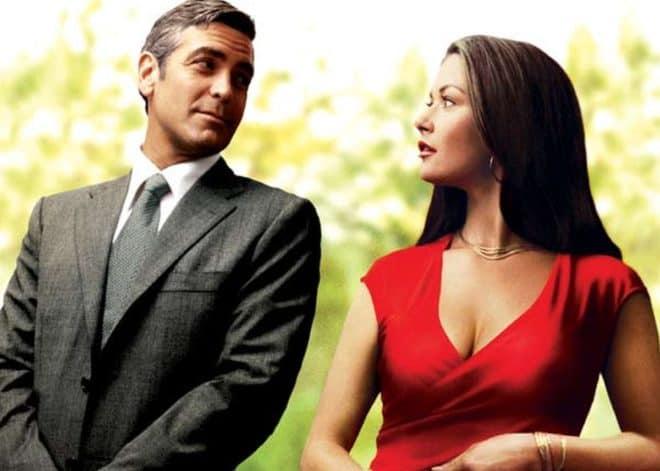 """George Clooney et Catherine Zeta-Jones sur l'affiche d'""""Intolérable cruauté"""""""