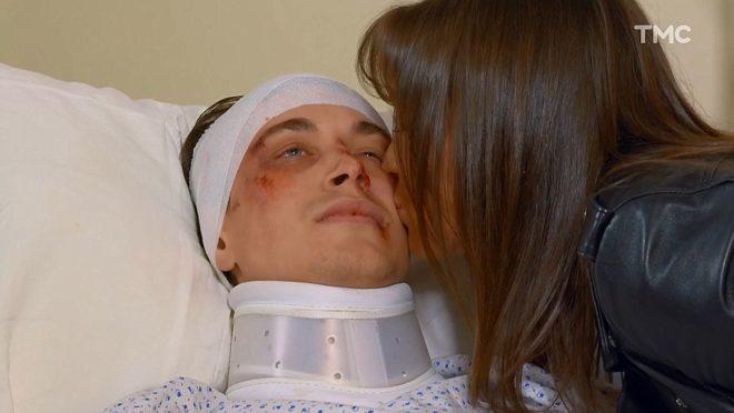 """Stephen et Fanny (Les Mystères de l'Amour saison 20, épisode 17 """"Chassés-croisés dangereux"""")"""