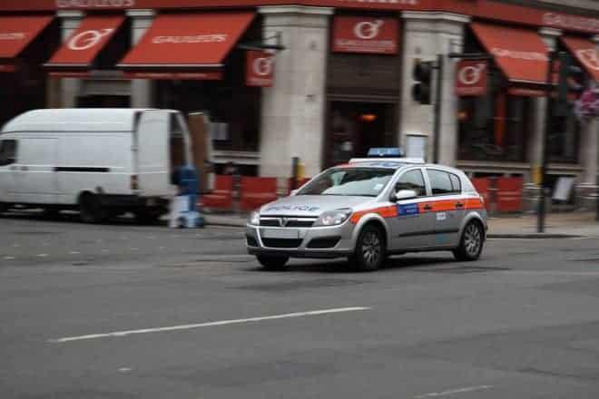 Une voiture de police britannique. Image d'illustration.