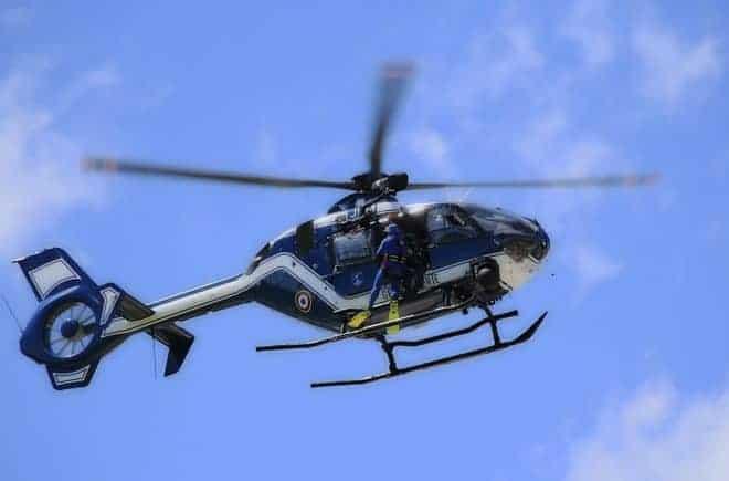 Illustration. Un hélicoptère de la gendarmerie.