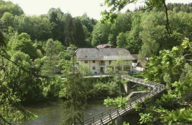 L'hôtel où ont été retrouvés trois corps, à Passau (Mai 2019).