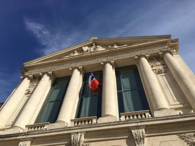 Illustration. Un palais de justice français.