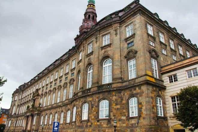 Le parlement du Danemark.