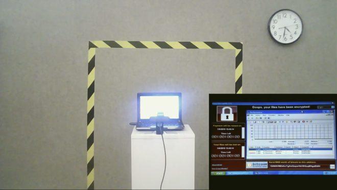 Capture d'écran de l'enchère de l'œuvre The Persistence of Chaos.