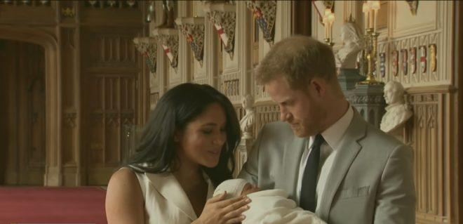 Le Royal Baby et ses parents.