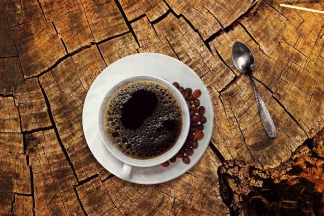 Illustration. Une tasse de café.