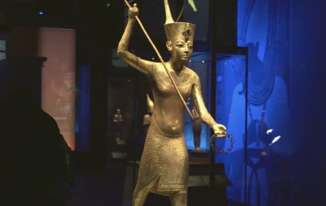 Une des pièces de l'expo Toutânkhamon.