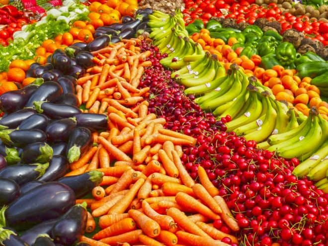 Illustration. Des fruits et légumes.