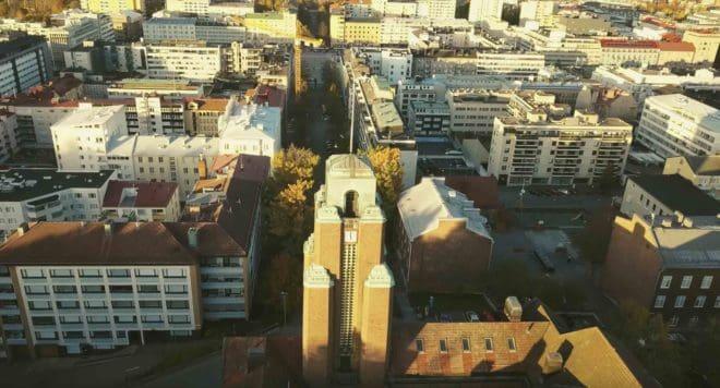 La ville de Lahti, en Finlande.
