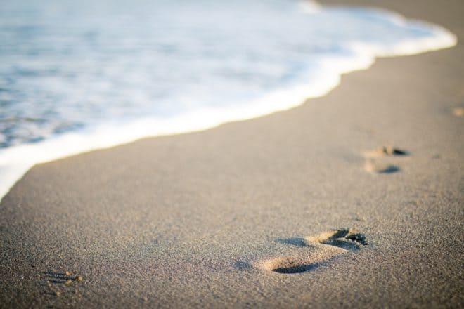Illustration. La mer, la plage.