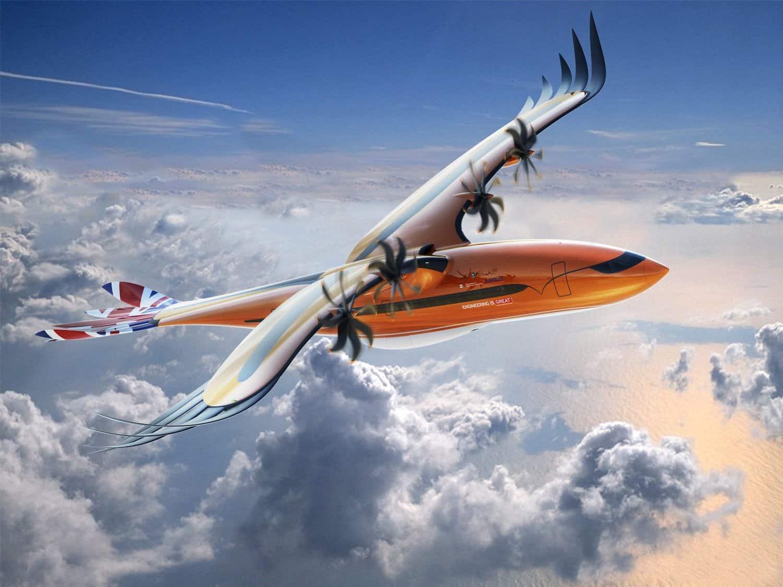 Airbus a dévoilé un nouvel avion hybride inspiré des oiseaux de proie