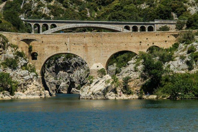 Le Pont du Diable, dans l'Hérault.