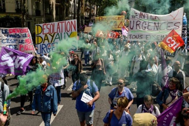 Manifestation à l'appel du collectif Inter-Urgences le 6 juin 2019 à Paris