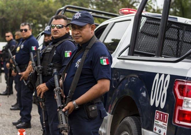 La police au Mexique. Image d'illustration.