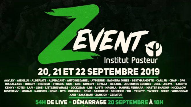 Le Z Event 2019 au profit de l'Institut Pasteur
