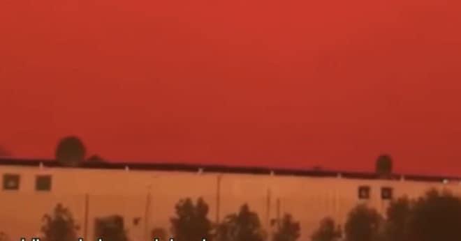 Le ciel de la province de Jambi, rougi par les incendies (septembre 2019)