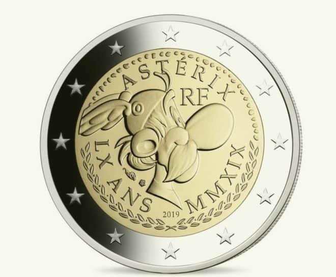 La pièce de 2 euros Astérix, mise en circulation en septembre 2019.