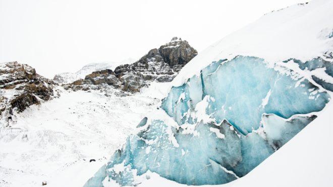 Illustration. Un glacier alpin.