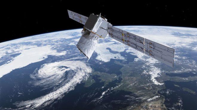 Le satellite Aeolus de l'Agence spatiale européenne.