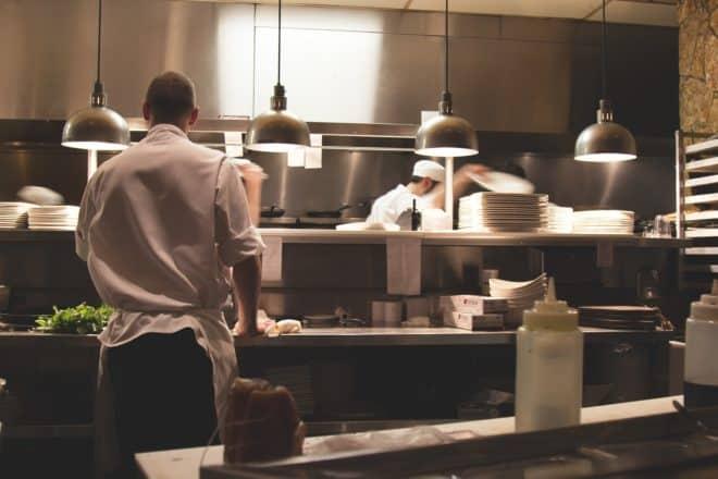 Illustration. les cuisines d'un restaurant.