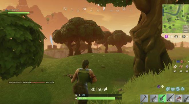 Image tirée du jeu vidéo Fortnite.