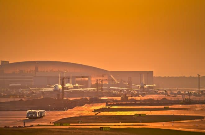 L'aéroport de Francfort. Illustration.